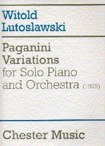 PAGANINI VARIATIONS FOR SOLO PIANO AND ORCHESTRA FULL SCORE - PIANO SOLO