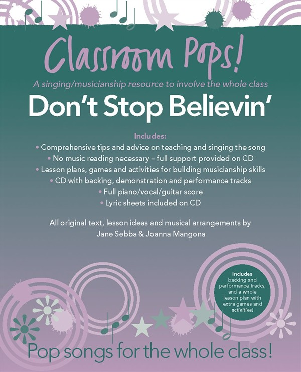 CLASSROOM POP SONGSHEETS DON'T STOP BELIEVIN' PIANO/VOCAL/GUITAR + CD - PVG