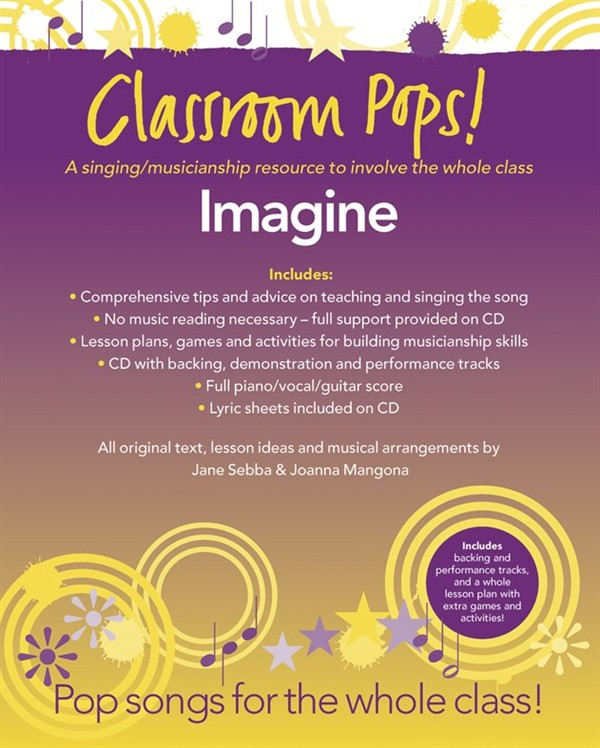 CLASSROOM POP SONGSHEETS IMAGINE PIANO/VOCAL/GUITAR + CD - PVG