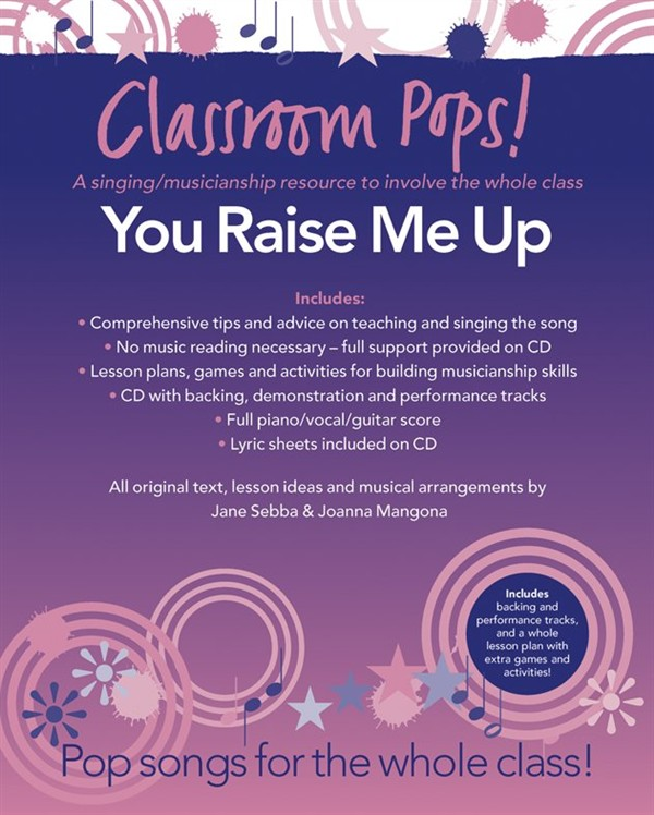 CLASSROOM POP SONGSHEETS YOU RAISE ME UP PIANO/VOCAL/GUITAR + CD - PVG