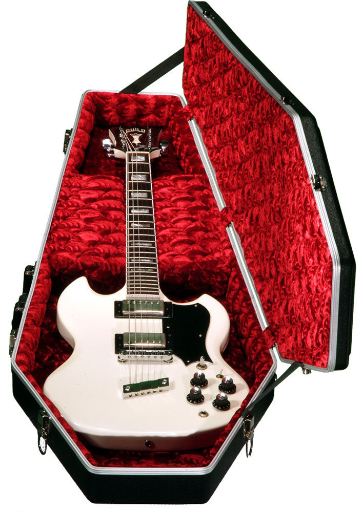 GUITAR CASE DELUXE SERIE - BLACK ABS RED VELVET INSIDE