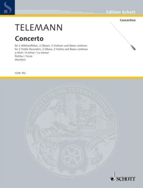TELEMANN - CONCERTO A MINOR - CONDUCTEUR