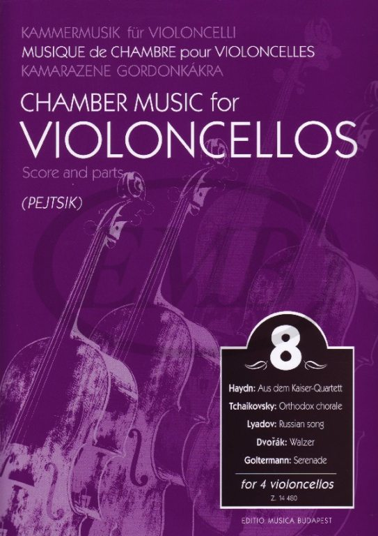 CHAMBER MUSIC FOR VIOLONCELLOS VOL.8 - 4 VIOLONCELLOS