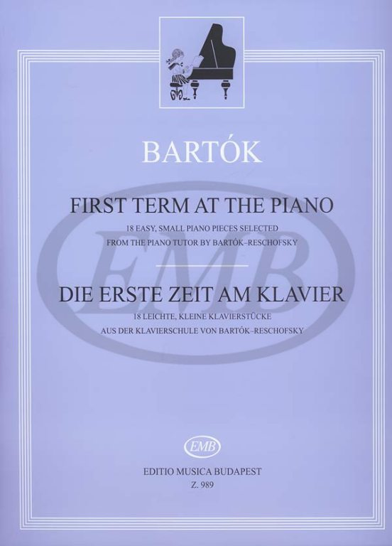 BARTOK B. - FIRST TERM AT THE PIANO - PIANO