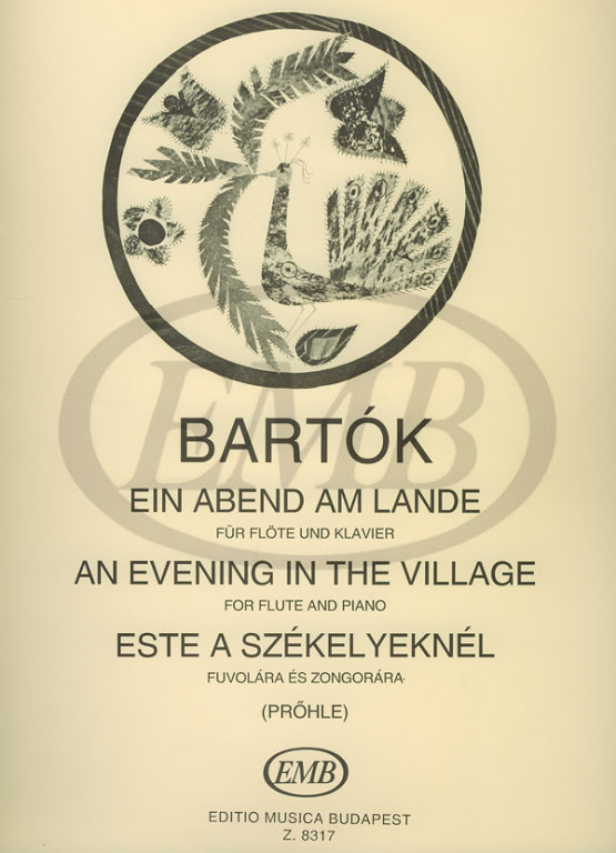BARTOK B. - EVENING IN THE VILLAGE - FLUTE ET PIANO