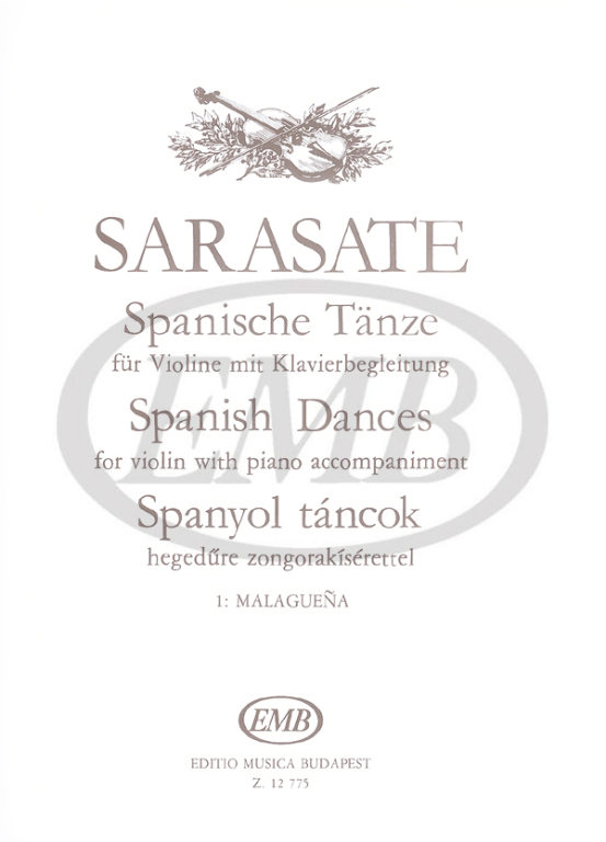 Sarasate P. De - Malaguena Op. 21 N. 1 - Violon Et Piano