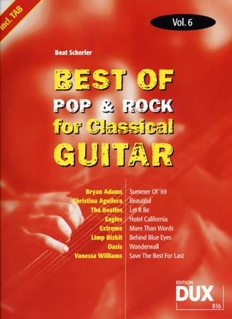 Best Of Pop and Rock For Classical Guitar Solf. and Tab Vol.6