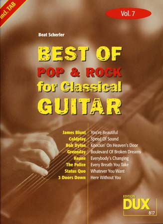 Best Of Pop and Rock For Classical Guitar Solf. and Tab Vol.7