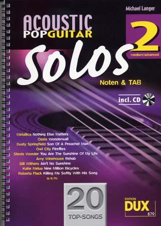 Acoustic Pop Guitar Solos Solf. & Tab Vol.2  + Cd