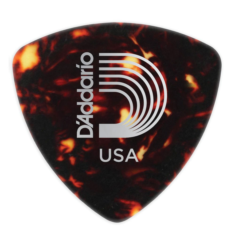 SHELL-COLOR CELLULOID GUITAR PICKS 100 PACK HEAVY WIDE SHAPE