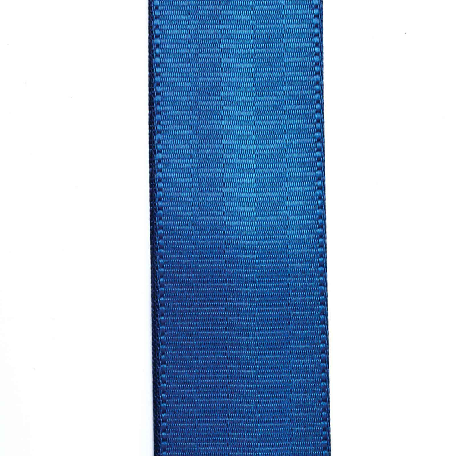 50SB02 SEATBELT LEATHER STRAP FOR GUITAR 50 MM BLUE