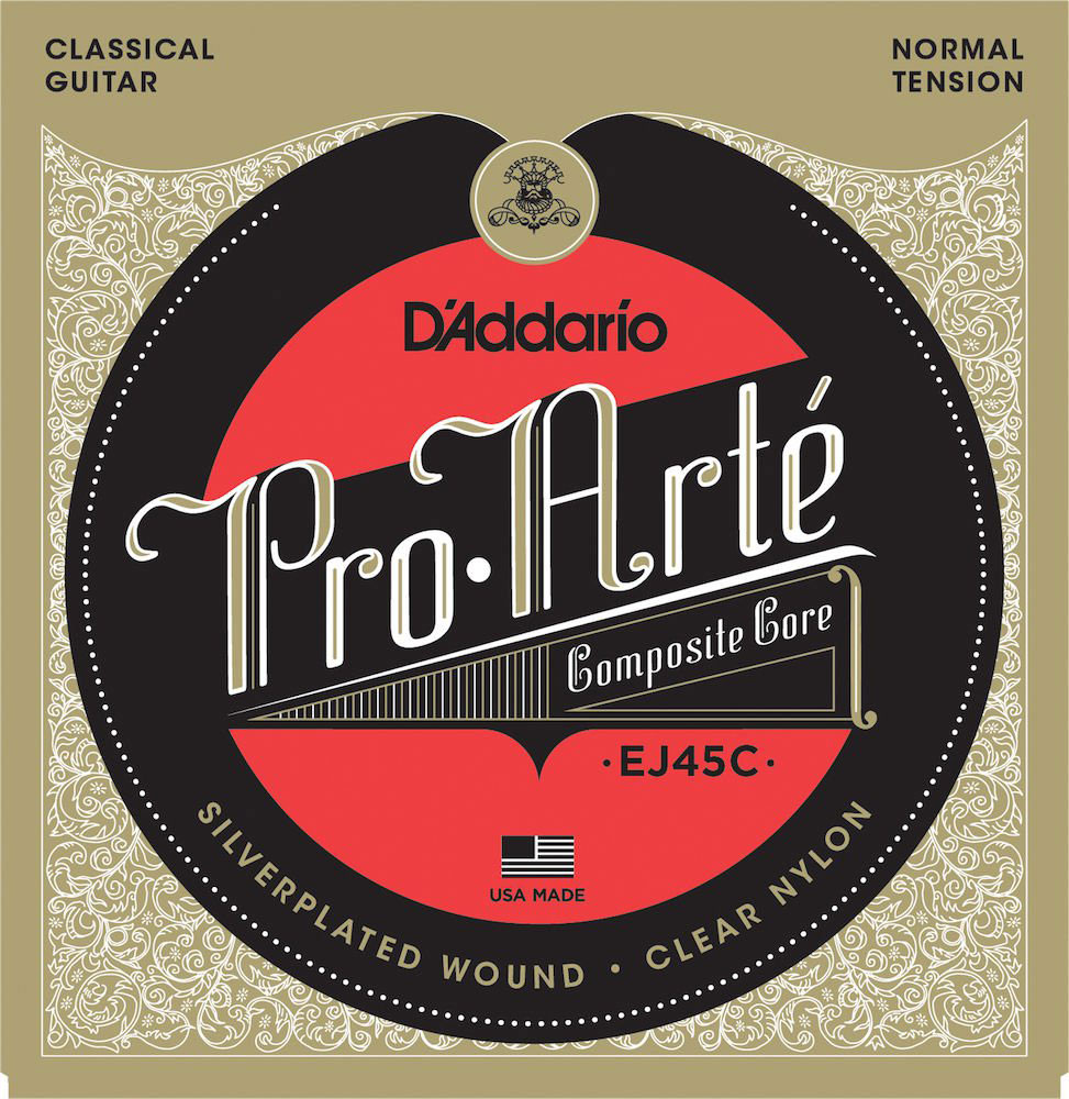 D'addario - jeu de cordes guitare classique ej 45 c pro arte - tension normal