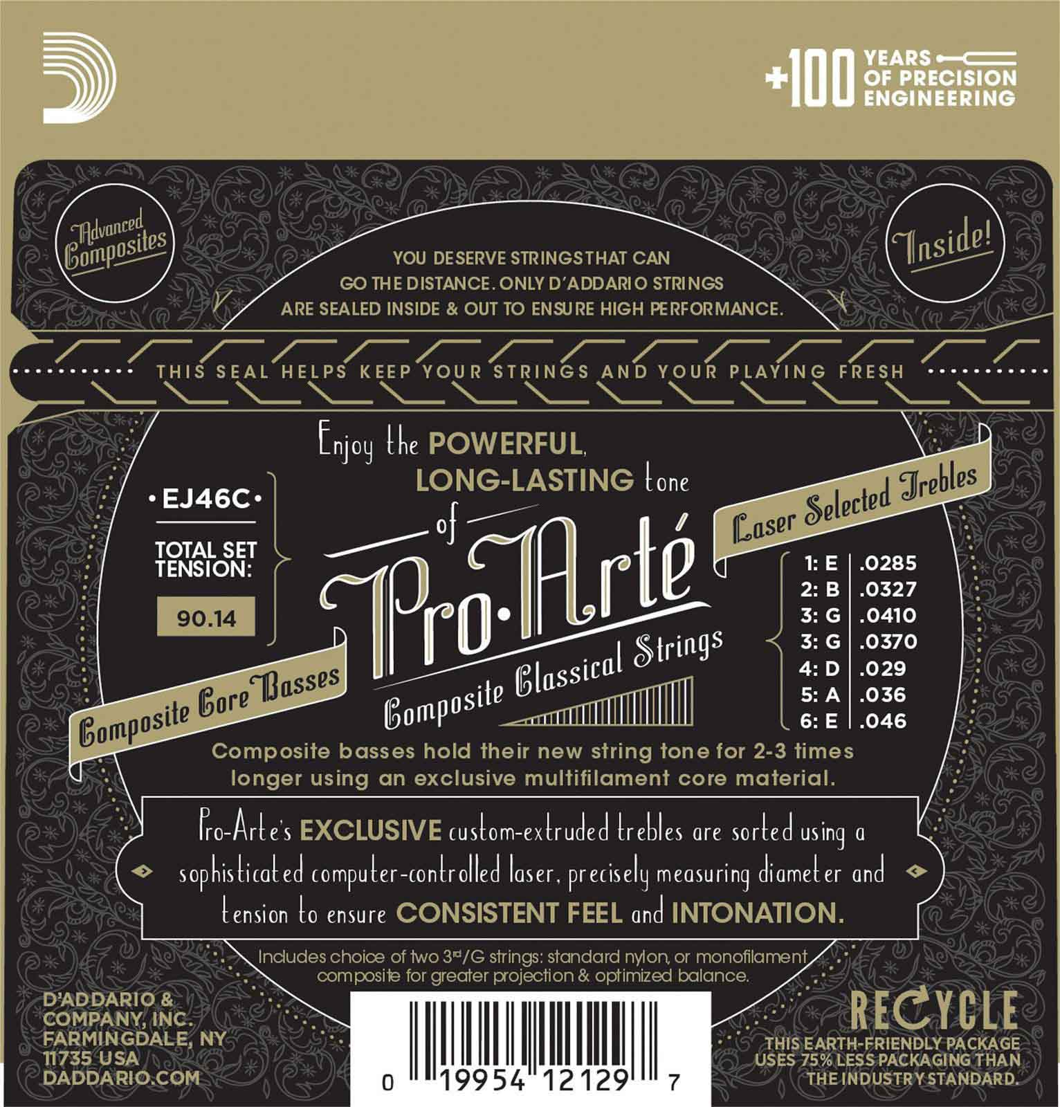 EJ46C PRO-ARTE COMPOSITE CLASSICAL GUITAR STRINGS HARD TENSION