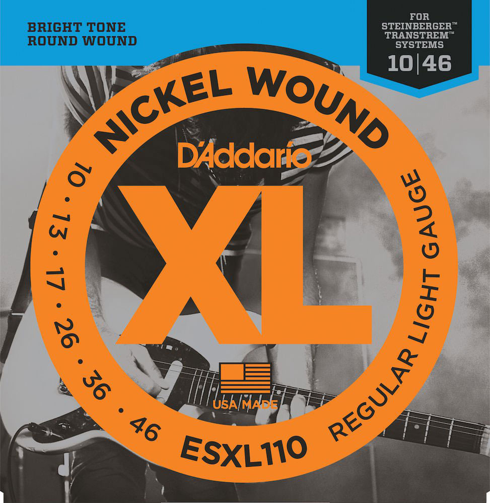 ESXL110 NICKEL WOUND ELECTRIC GUITAR STRINGS REGULAR LIGHT DOUBLE BALL END 10-46