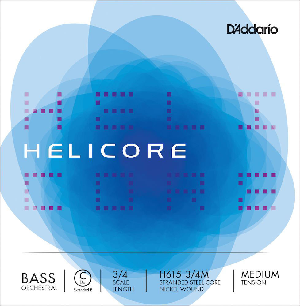 3/4 HELICORE ORCHESTRAL BASS SINGLE C (EXTENDED E) STRING SCALE MEDIUM TENSION