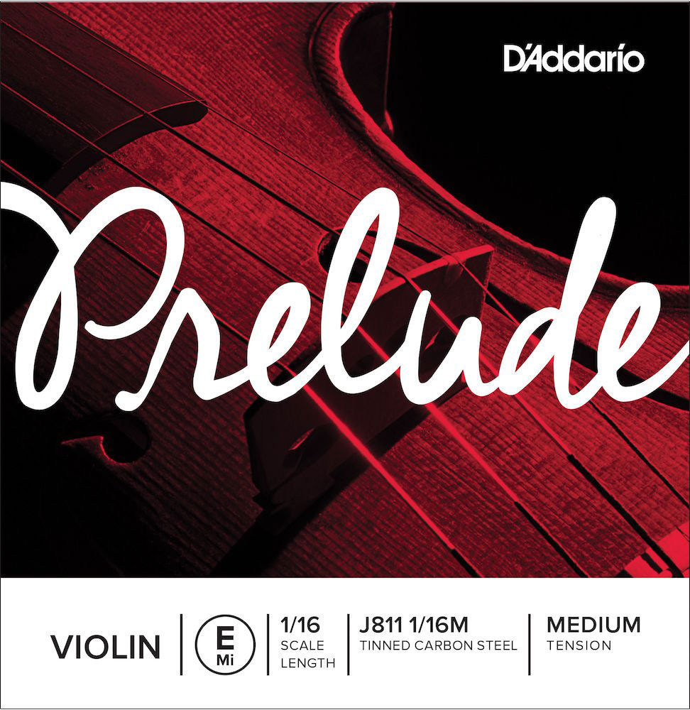 SINGLE STRING (MI) FOR VIOLIN 1/16 PRELUDE TENSION MEDIUM