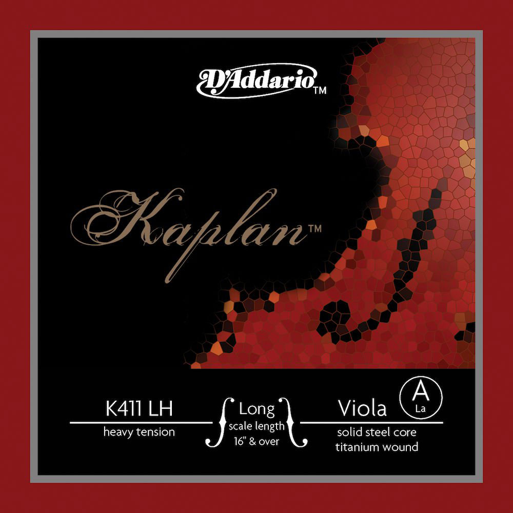 K411LH KAPLAN KAPLAN SINGLE STRING A FOR ALTO LONG SCALE HEAVY TENSION RED