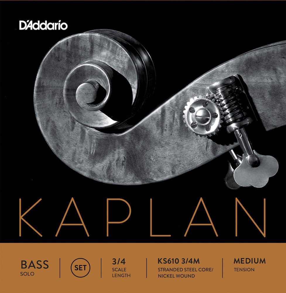 SET OF STRINGS FOR DOUBLE BASS 3/4 KAPLAN SOLO TENSION MEDIUM