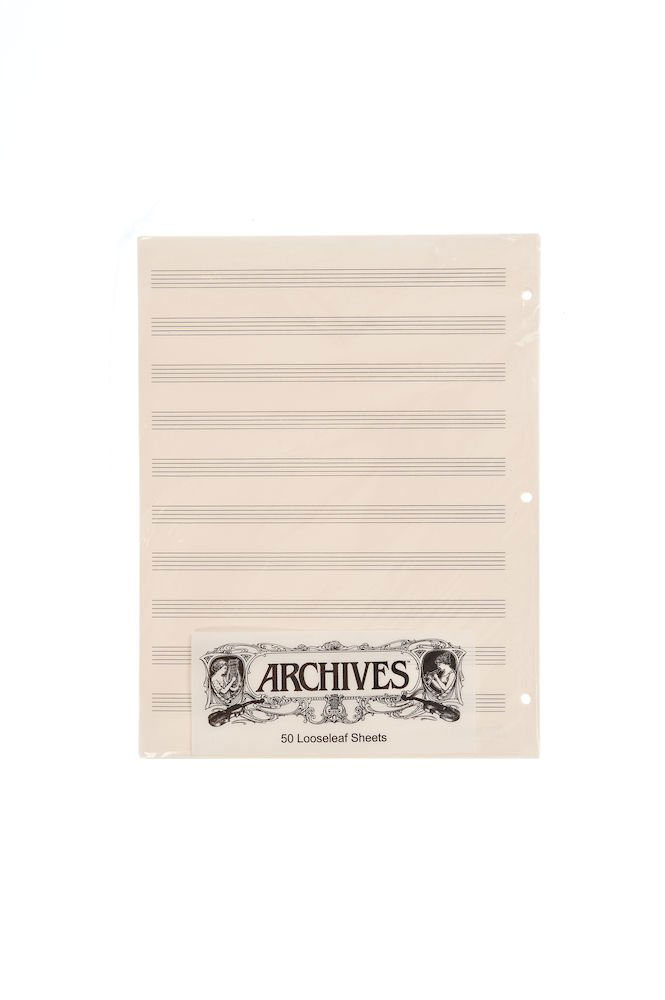 MANUSCRIPT SHEET BLOCK ARCHIVE 10 STAVES 50 PAGES