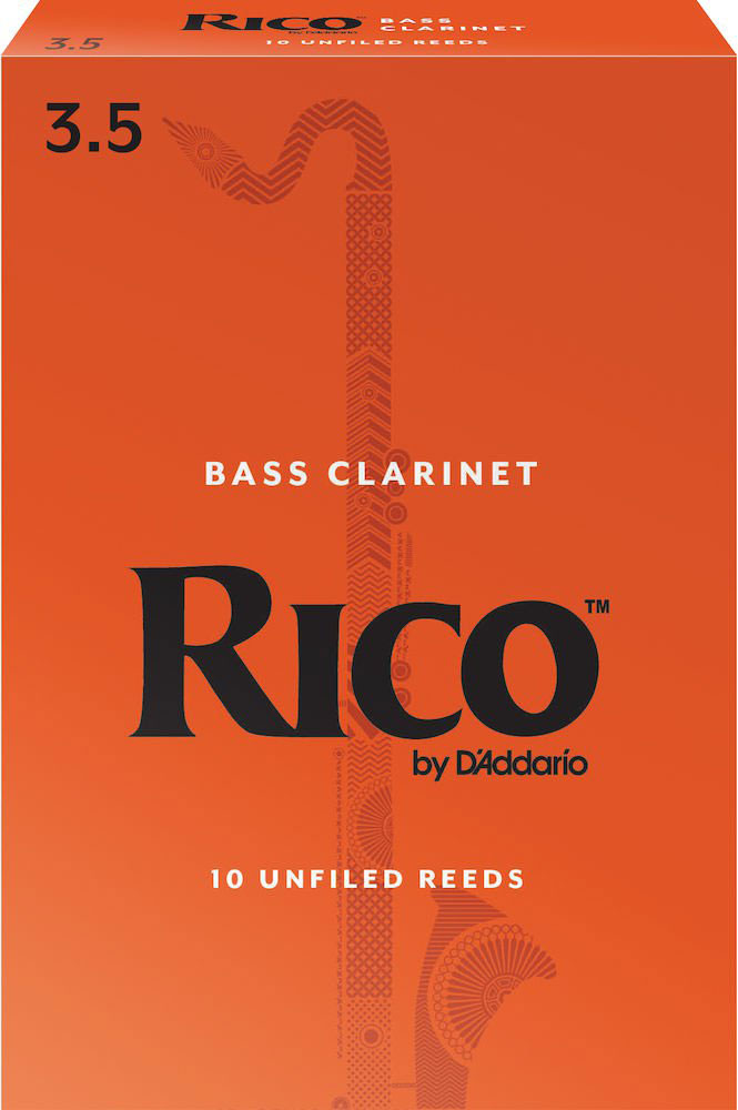 D\'addario - Rico Rea1035 - Anches Rico Royal Clarinette Basse, Force 3.5, Pack De 10