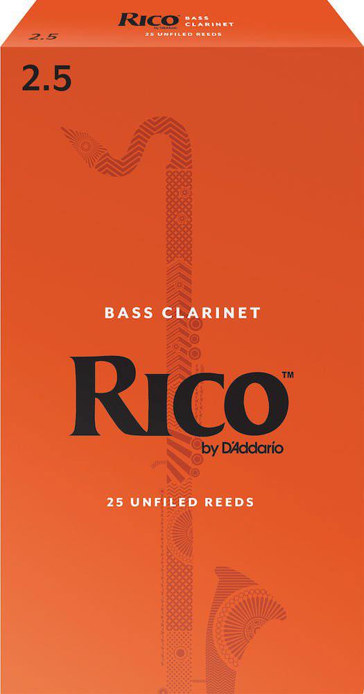 D\'addario - Rico Rea2525 - Anches Rico Royal Clarinette Basse, Force 2.5, Pack De 25