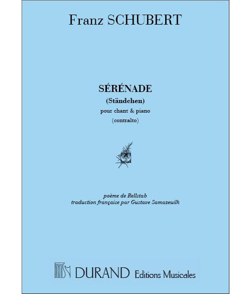 SCHUBERT F. - SERENADE (VOIX GRAVES) - CHANT ET PIANO