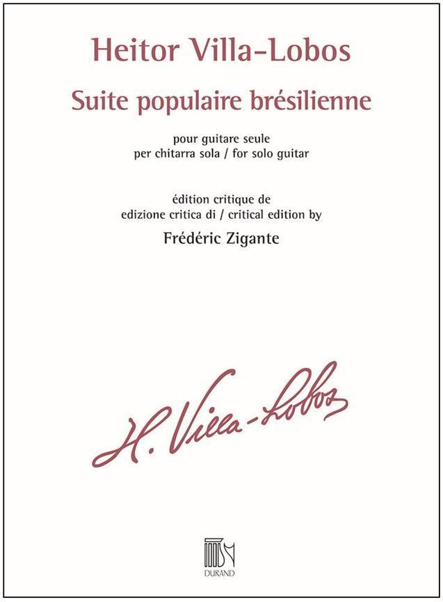 Heitor Villo Lobos - Suite Populaire Bresilienne - Guitare