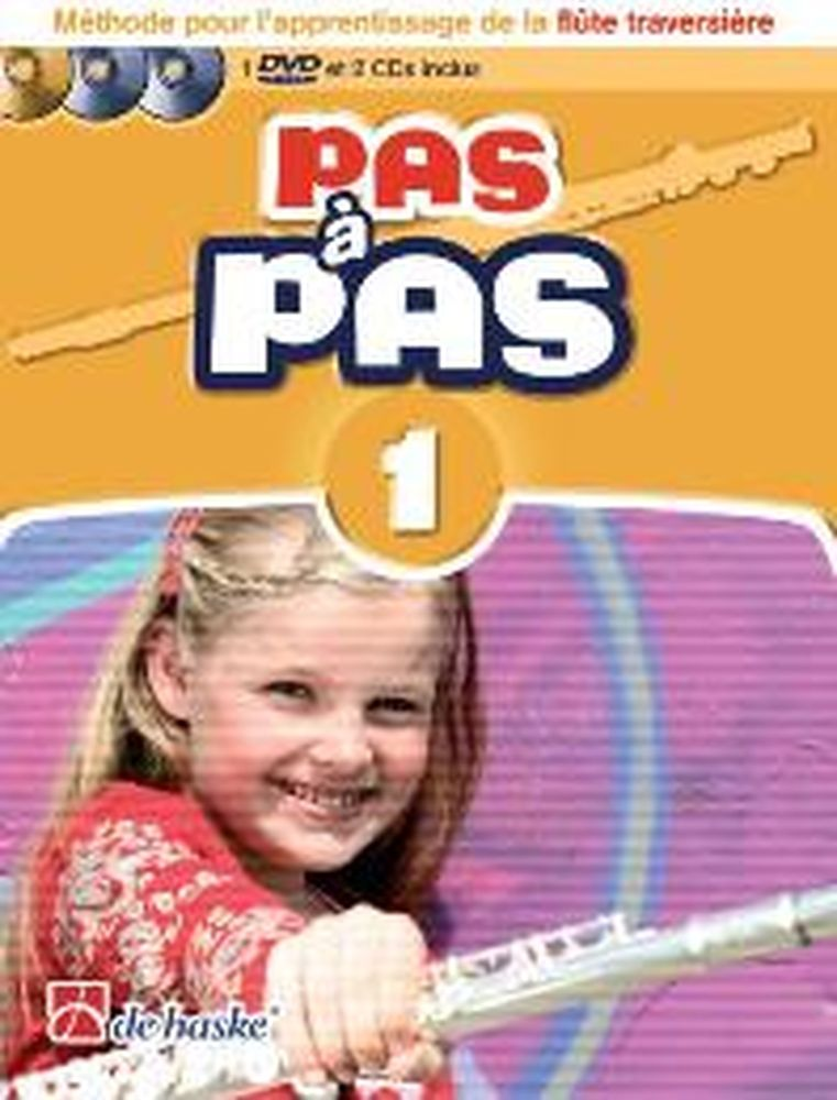 Pas A Pas Flute Traversiere Vol.1 + 2 Cd Et Dvd