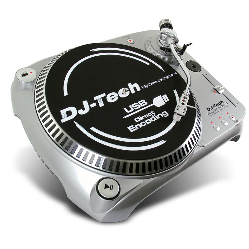 vinyl tech encoder dj turntable usb silver platine v2 10v2