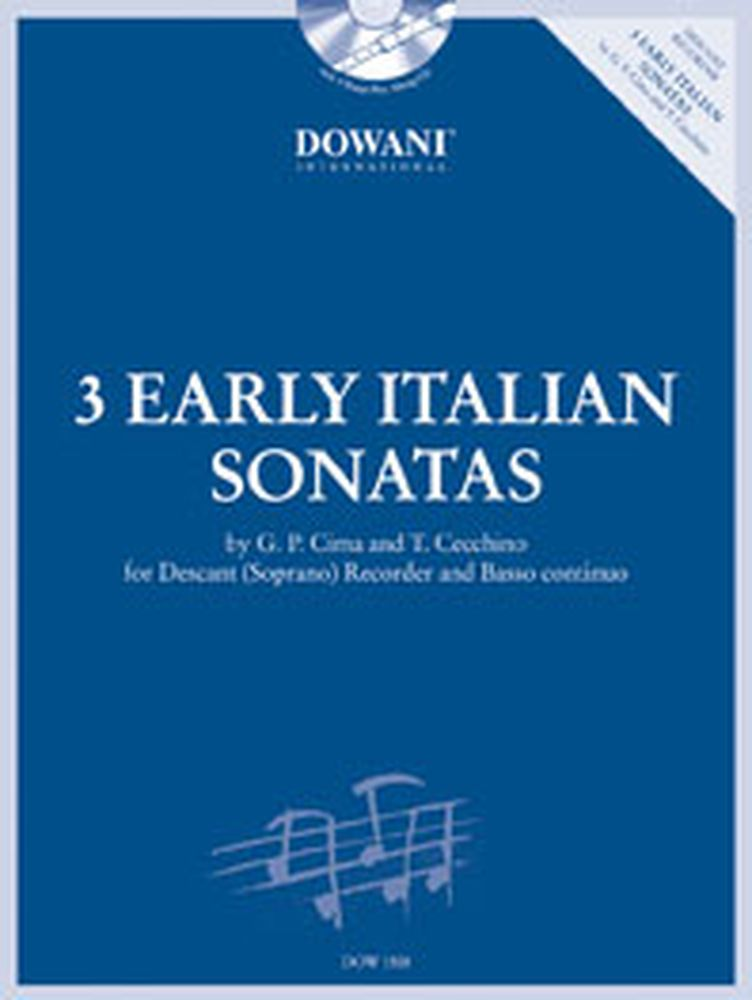 3 Early Italian Sonatas - Flute A Bec Soprano, Bc