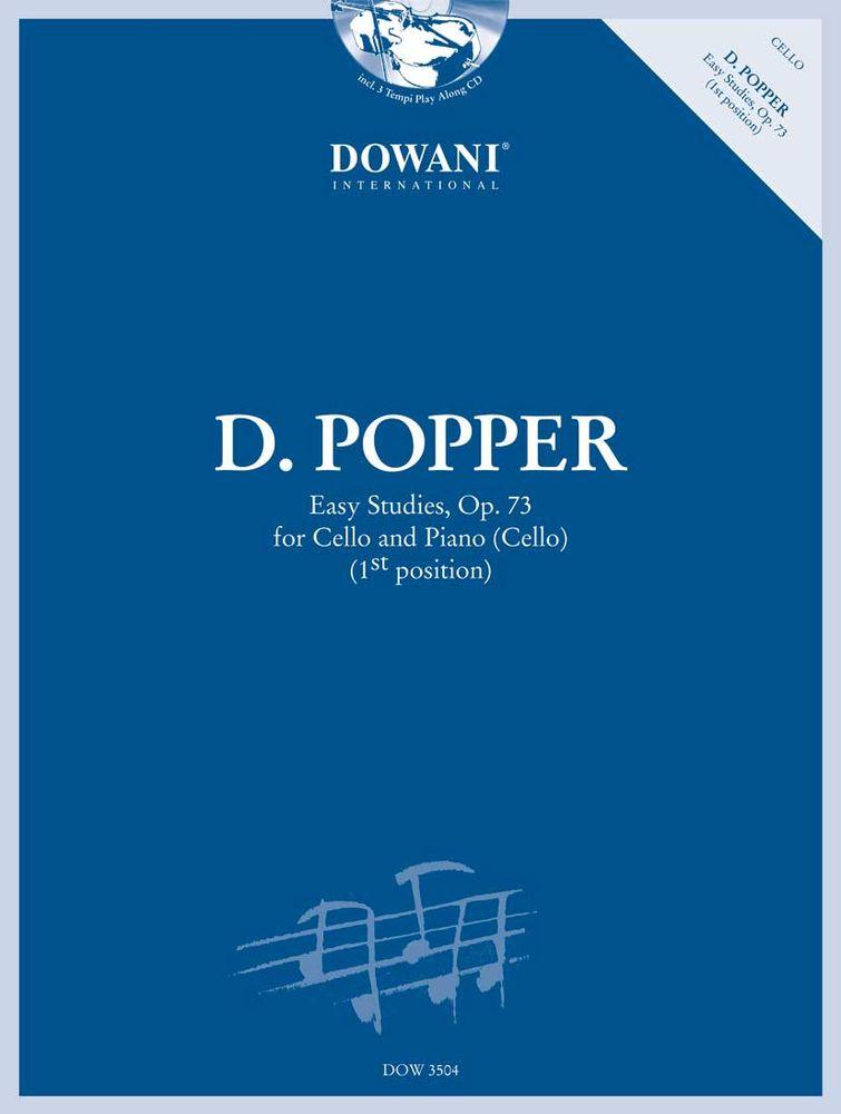 Popper D. - Easy Studies Op.73 - Violoncelle, Piano