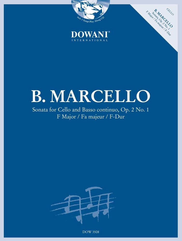 MARCELLO B. - SONATA OP.2 N°1 RV 43 IN F MAJOR - VIOLONCELLE, BC