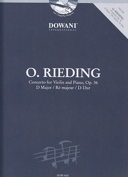 RIEDING O. - CONCERTO FOR VIOLIN AND PIANO OP. 36 D MAJOR