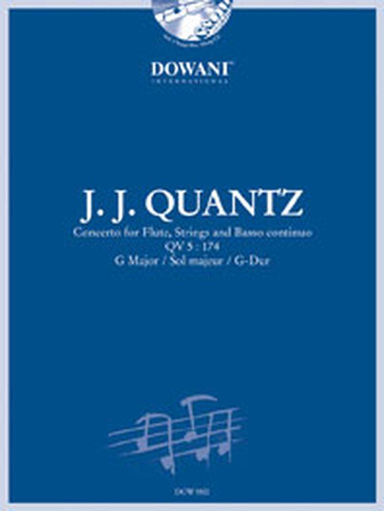 Quantz J.j. - Concerto Qv 5 : 174 In G Major - Flute Traversiere, Bc