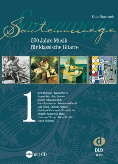 Humbach - Saitenwege Band 1 - 500 Jahre Musik - Guitare + Cd