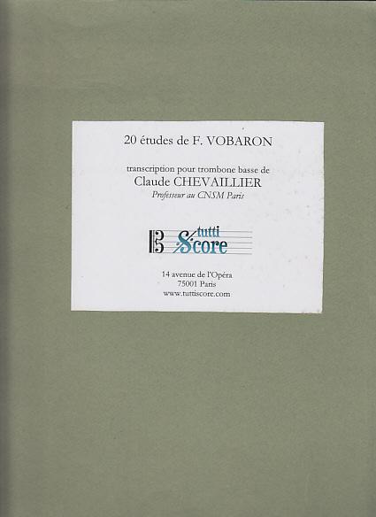 20 Etudes De F. Vobaron