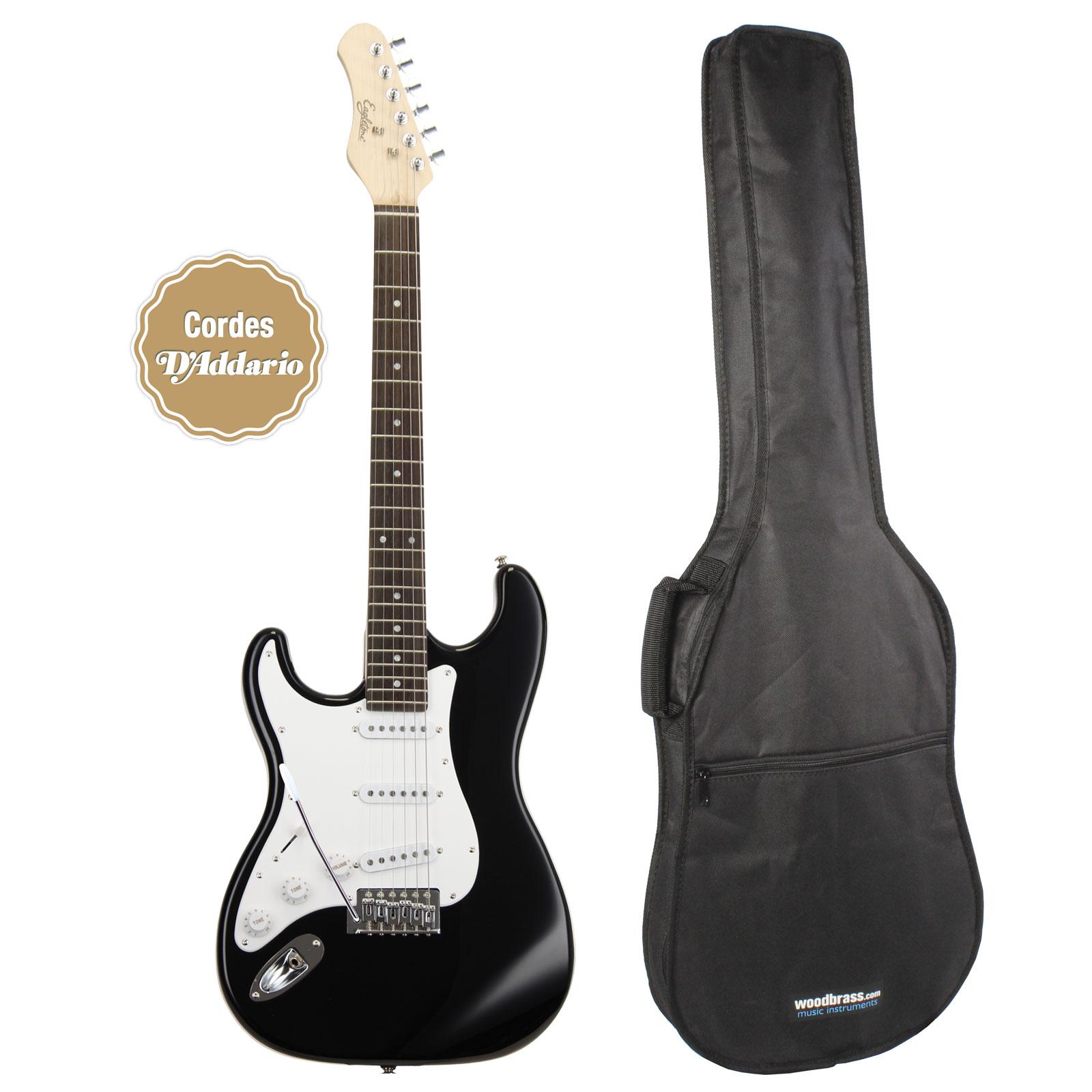 Eagletone sun state hss noire housse guitares for Housse guitare electrique