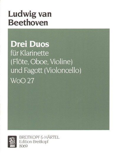Beethoven Ludwig Van - Drei Duos - Clarinette Et Basson