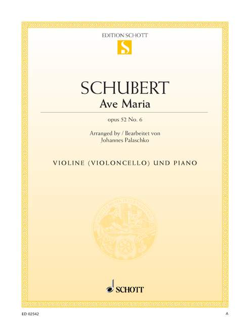 SCHUBERT FRANZ - AVE MARIA OP. 52/6 D 839 - VIOLIN AND PIANO