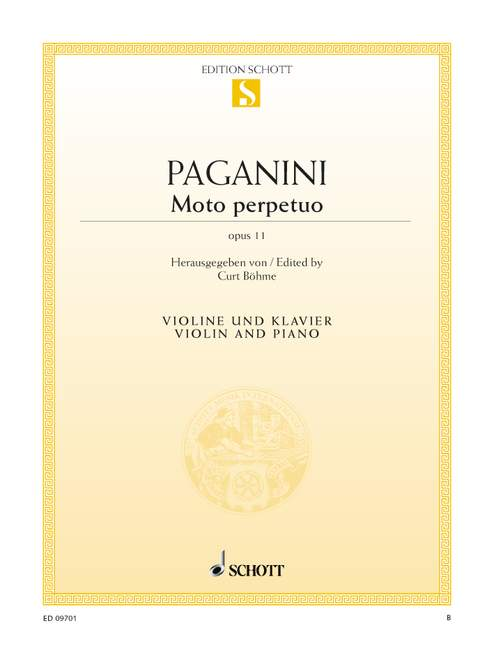 Paganini Niccolo - Moto Perpetuo Op. 11 - Violin And Piano