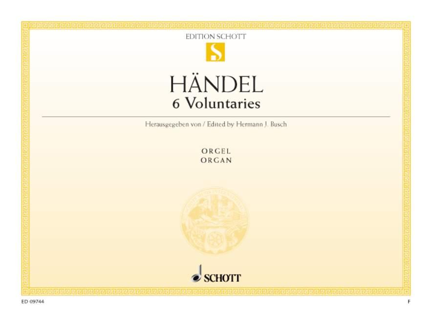 Haendel G.f. - 6 Voluntaries - Organ