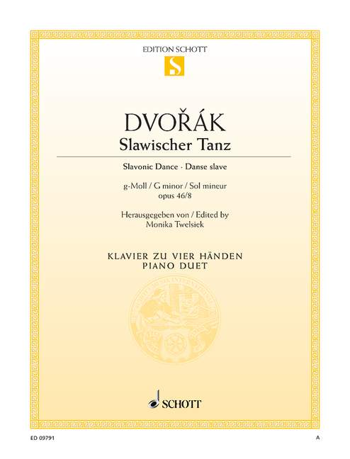 DVORAK ANTON - SLAVONIC DANCE NO. 8 G MINOR OP. 46/8 - PIANO