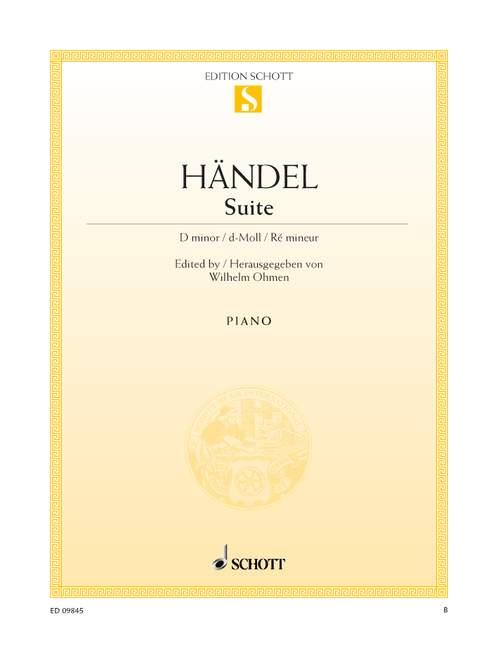 Haendel G.f. - Suite D Minor - Piano