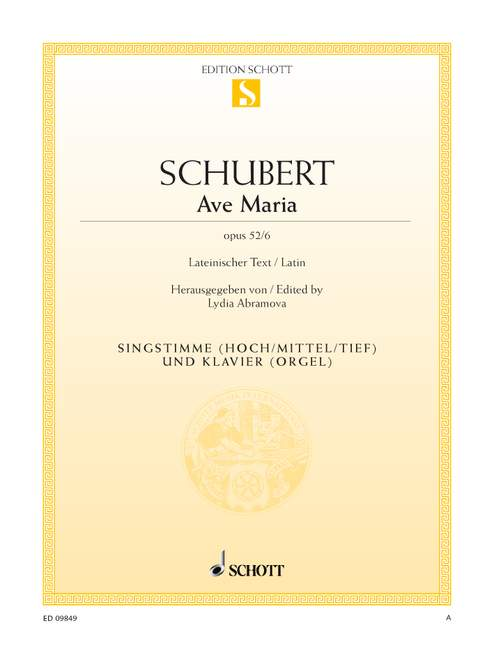 Schubert Franz - Ave Maria Op. 52/6 - Voice And Piano