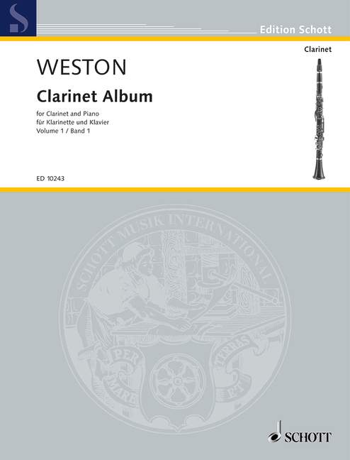 WESTON PAMELA - CLARINET ALBUM VOL.1 - CLARINET IN BB AND PIANO