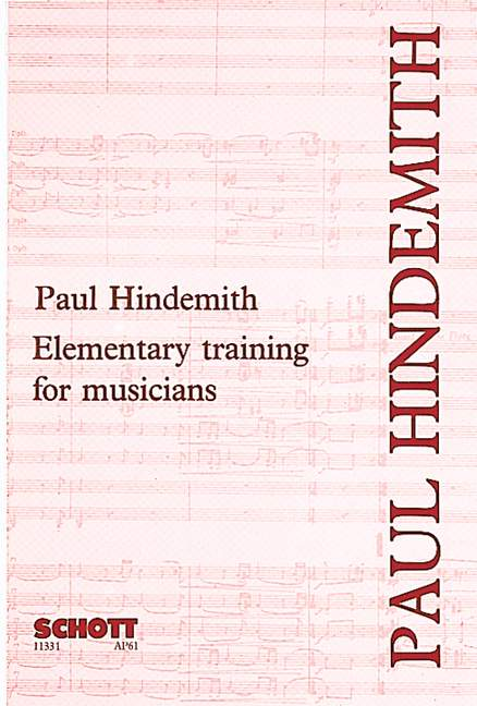 Hindemith Paul - Elementary Training For Musicians