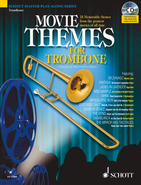 Movie Themes For Trombone - Trombone