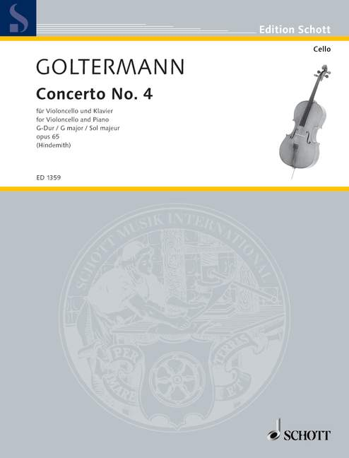 GOLTERMANN GEORGE - CELLO CONCERTO OP. 65 - VIOLONCELLO AND PIANO