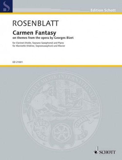 Rosenblatt A. - Carmen Fantasy - Clarinette & Piano