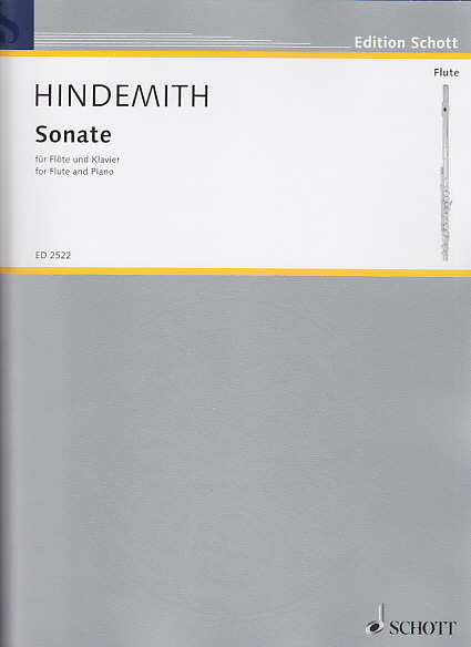 HINDEMITH P. - SONATE - FLUTE ET PIANO